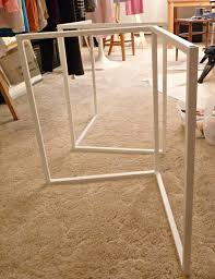 Diy Desk Legs Remodelaholic How To Build A Desk With Wood Top And Metal Legs