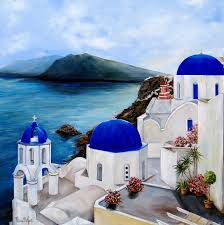 47 best santorini painting images on pinterest painting