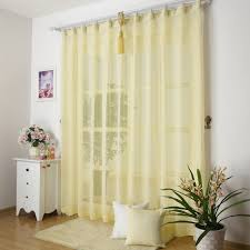 Yellow Sheer Curtains Yellow Sheer Curtains In Modern Looking Style