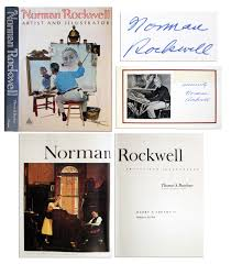 lot detail norman rockwell u0027s signature affixed within coffee