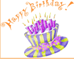 Happy Birthday Wishes Animation For Free Happy Birthday Greeting Card Animation Gif 240 192