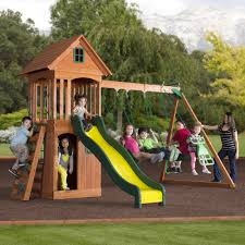 backyard discovery tanglewood all cedar wood playset pictures on