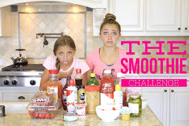 the smoothie challenge brooklyn and bailey youtube