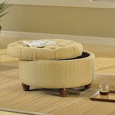 Safavieh Amelia Tufted Storage Ottoman Round Ottomans Easy Home Concepts