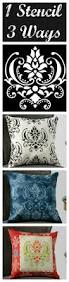 1 stencil 3 ways make exciting decorative pillows with this easy
