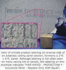 Ceiling Tile Adhesive by How To Tell If Ceiling Tiles Contain Asbestos