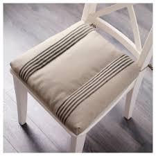ullamaj chair cushion white red ikea