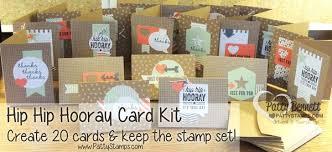 hip hip hooray card kit make 20 cards patty s sting spot
