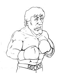 rocky balboa coloring pages good 2520