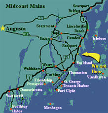 map us route 1 strawberry hill seaside inn maine waterfront lodging on penobscot bay