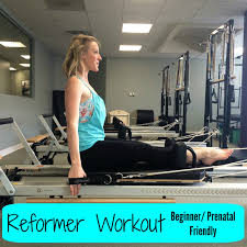 pilates reformer workout beginner prenatal friendly youtube