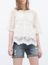 sleeve lace blouse lace blouse inside shell white length sleeves
