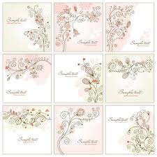 vector shabby chic floral vector set 9 designs vintage