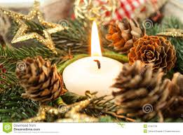 christmas candle and ornaments stock photo image 47961139
