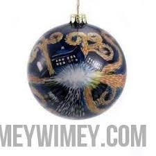 doctor who glass starry tardis ornament