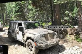 jeep rubicon trail 2018 jeep wrangler jl spotted on rubicon trail