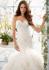 venice lace on organza mermaid style morilee bridal wedding dress