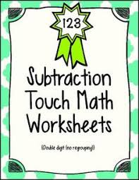 this touch math file includes 3 worksheets for 3 digit addition