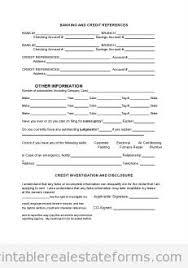 free rental u0026 owner finance application printable real estate