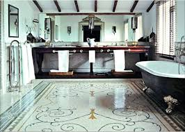 exquisitely italian bathroom design with red pine varnish floral