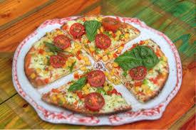 cuisine de lili piza de carnes 4 quesos y vegetariana receta original de madame