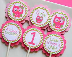 personalized cupcake toppers strawberry birthday party personalized cupcake toppers party