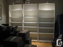 Bookcases With Lights 1 Ikea Billy Bookcase 3 Grundtal Lights Each Cords For Sale In