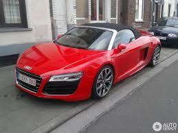 Audi R8 Red - audi r8 v10 spyder 2013 4 january 2014 autogespot