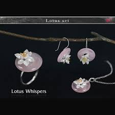 whispers earrings aliexpress buy lotus real 925 sterling silver handmade