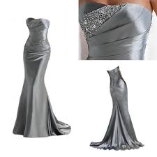 silver mermaid 2017 long evening dresses with sparkly sequins