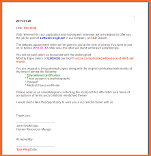 offer letter example sop example