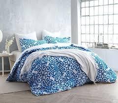 Duvet Covers College Designer Blue Batik Contemporary Bedding Twin Size Duvet Cover
