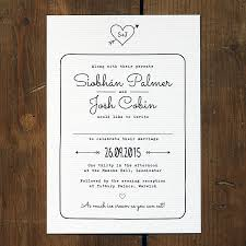 heart and arrow wedding invitation by feel good wedding