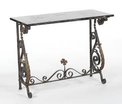 Wrought Iron Console Table Amazing Wrought Iron Console Table With Top For Legs Pics Of