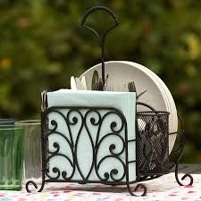 picnic baskets wrought iron picnic caddy and table organizer
