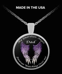 dad guardian angel necklace guardian angels dads and angel
