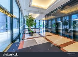Modern Lobby by Perspective Modern Lobby Hallway Luxury Hotel Stock Photo