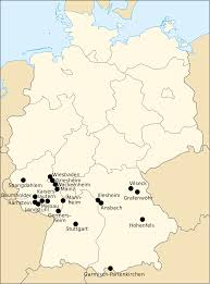 Stuttgart Germany Map by File Us Military Bases In Germany Svg Wikimedia Commons