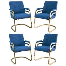 chromcraft dining room furniture set of four chromcraft sculptural brass dining chairs at 1stdibs