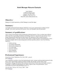 Hospitality Resumes Examples by Resume Hotel Management Resume How To Prepare Professional Resume