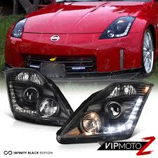 nissan 350z zero to 60 for 2003 2005 350z vq35 factory d2r hid black projector headlight