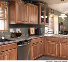 hickory kitchen cabinets kitchen mediterranean with accent tile