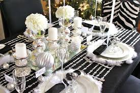 Flower Decoration For New Year 35 black and white new year u0027s eve party table decorations