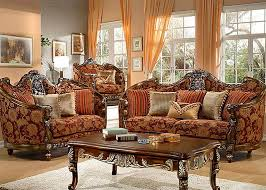Gold Sofa Living Room Florence Red And Gold Chenille Sofa By Homey Design 270 S