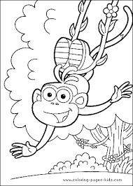 dora explorer color coloring pages kids cartoon