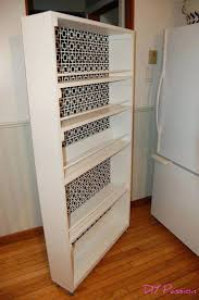 diy slide shelf drawers kitchen cabinets out storage tower for