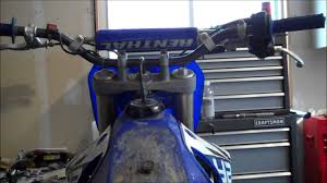 how to remove the gas tank on a dirt bike youtube