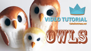 how to make some cute owls cake decorating tutorial youtube