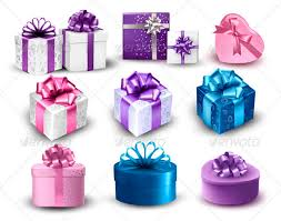 boxes with bows set of colorful gift boxes with bows and ribbons by almoond