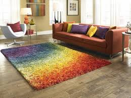 Rugs For Dining Room by Decorating Barcelona Shag Contemporary Rainbow Living Dining Room